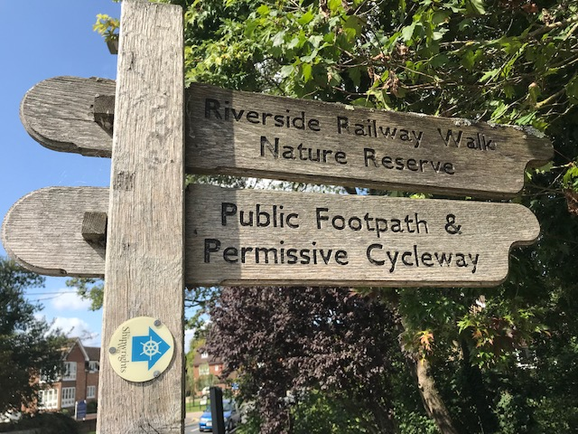 riverside walk sign